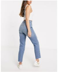 ASOS Hourglass High Rise Stretch 'effortless' Crop Kick Flare Jeans - Blue