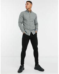 River Island - Long Sleeve Regular Fit Oxford Shirt - Lyst
