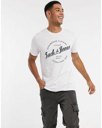 Jack & Jones Originals Round Logo T-shirt - White