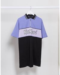 Kickers Relaxed Polo Shirt Dress With Front Logo - Multicolour