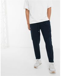 ASOS Tapered sweatpants With Pleats - Blue