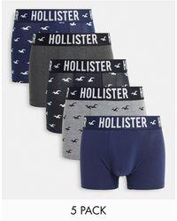 Hollister 5 Pack Trunks - Blue