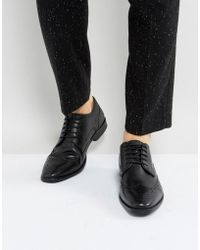 Ben Sherman - Smart Oxford Brogues In Black Leather - Lyst