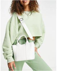 Claudia Canova Bolso tote pequeño blanco con correa al hombro - Verde