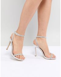New Look Heatseal Barely There High Heeled Sandal - Metallic