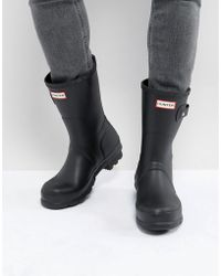HUNTER Original Short Wellies In Black