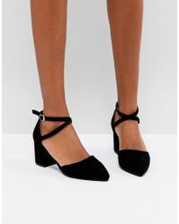 Oasis | Block Heel Pointed Toe Shoes | Lyst