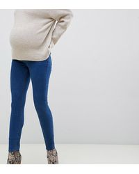 ASOS Asos Design Maternity Ridley High Waisted Skinny Jeans - Blue