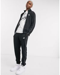 Nike Черный Спортивный Костюм -черный Цвет