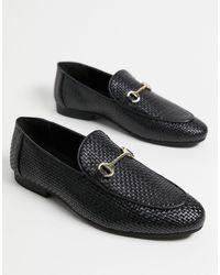 Walk London Jacob Woven Loafers - Black