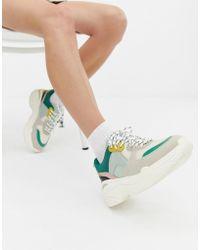 Stradivarius - Colourblock Chunky Sneaker - Lyst