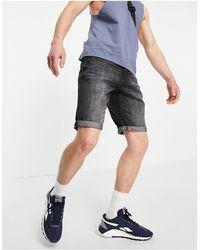 Tom Tailor Shorts vaqueros con lavado - Negro