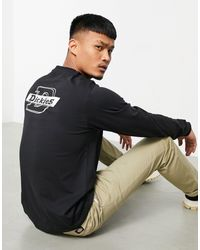 Dickies Maglietta a maniche lunghe con logo sul retro nera - Nero