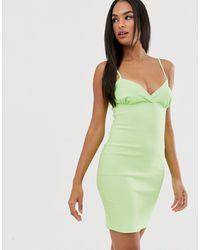Vesper - Платье Мини На Бретельках -зеленый Цвет - Lyst