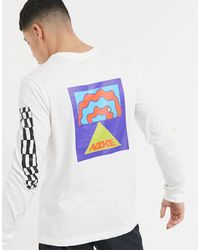 Nike T-shirt Met Lange Mouwen En Artist - Wit