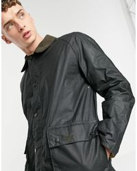 Barbour Шалфейно-зеленая Вощеная Куртка Morgan-черный Цвет