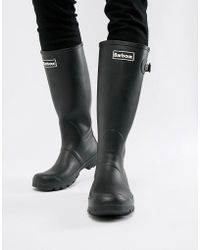 Barbour - Tall Wellington Boots In Black - Lyst