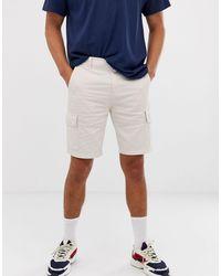 Bershka Cargo Shorts - Blue