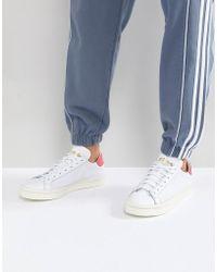 8e154cf7986a Lyst - adidas Originals Court Vantage Trainers In White Bz0426 in ...