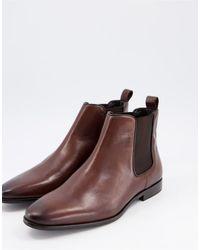 Walk London Alfie Chelsea Boots - Brown