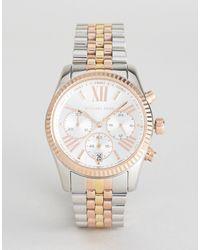 Michael Kors – MK 5735 Lexington – Armbanduhr aus verschiedenen Metallen - Mettallic