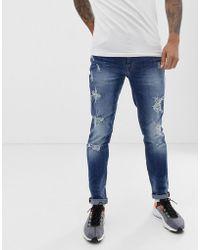 Blend - Echo Skinny Fit Jean In Mid Blue Wash - Lyst