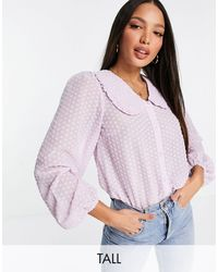 Y.A.S Y.a.s. Tall Collar Detail Blouse - Purple