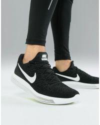 Nike - Lunarepic Low Flyknit 2 Trainers In Black 863779-001 - Lyst