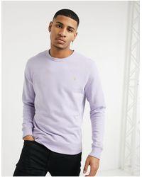 Farah Сиреневый Свитшот С Круглым Вырезом -фиолетовый - Пурпурный