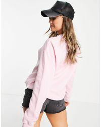Daisy Street Sweat-shirt oversize à imprimé Mickey Mouse - Délavage vintage - Rose