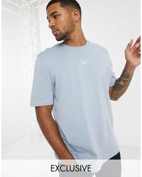 Reebok Classics T-shirt With Central Logo - Blue