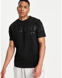 Jameson Carter Billie Branded T-shirt - Black