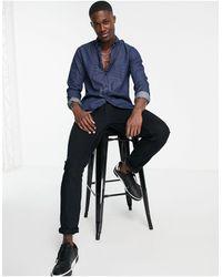 Calvin Klein Рубашка Из Ткани Шамбре Wilken-голубой - Синий
