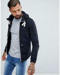 Pull&Bear - Hooded Jacket In Black - Lyst