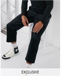 Collusion Pantalon coupe skateur en velours côtelé - Noir
