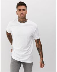 Bershka Join Life Organic Cotton Loose Fit T-shirt - White