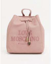 Love Moschino Essentials - Rugzak - Roze