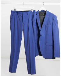 SELECTED – Schmal geschnittene Anzughose - Blau