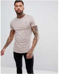 Religion Longline T-shirt - Pink