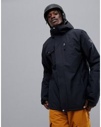 Quiksilver Mission Solid Snowboard Jacket In Black
