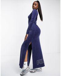 PUMA Темно-синее Платье Icons 2.0 Fashion-темно-синий