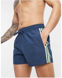adidas Originals - Adidas Swim 3 Stripe Swimming Trunks - Lyst