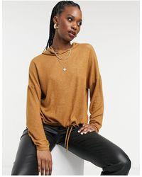 ONLY Top manches longues en jersey coupe carrée avec capuche - Multicolore