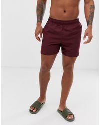 Nike Nike - Volley NESS9502-606 - Pantaloncini da bagno super corti bordeaux - Rosso