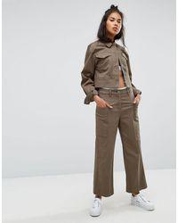 Calvin Klein Wide Leg Culotte - Green
