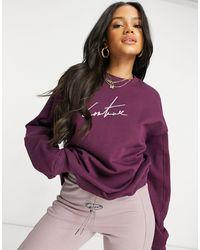 The Couture Club Sweat-shirt oversize d'ensemble - Bordeaux - Rouge
