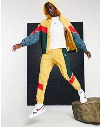 Nike Куртка Горчичного Цвета На Молнии С Капюшоном Heritage Essentials Windrunner-желтый - Многоцветный