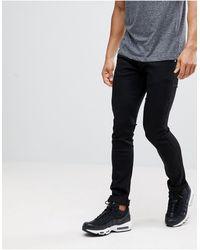 Versace Jeans Couture Черные Джинсы Скинни С Логотипом -черный