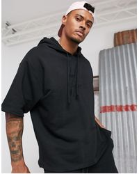 ASOS X Dark Future Co-ord Oversized Short Sleeve Hoodie - Black