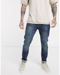 Bellfield Tapered Leg Jeans - Blue